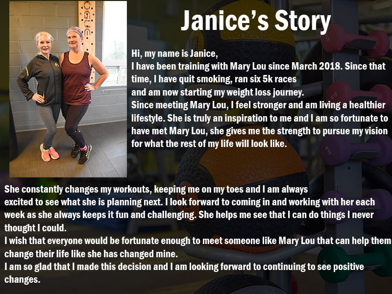 Janice's Trainer Testimonial