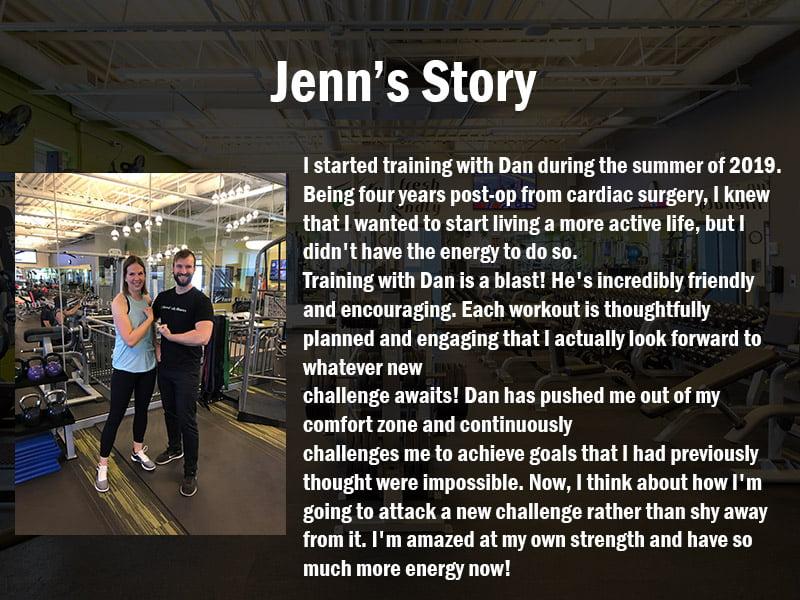 Jenn's Trainer Testimonial