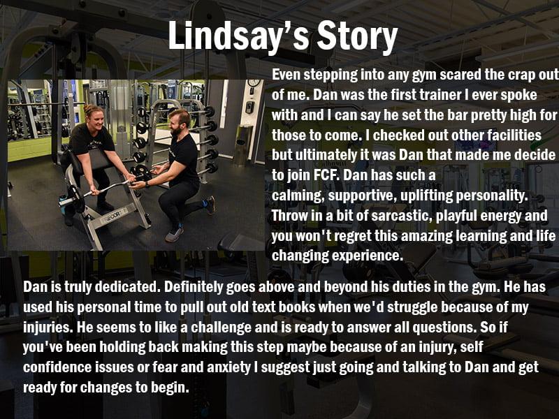Lindsay's Trainer Testimonial